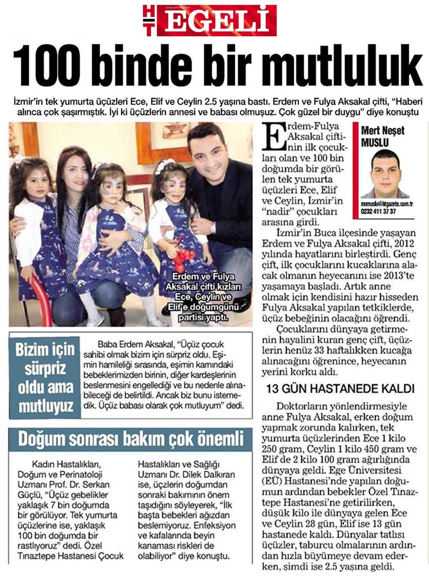 İzmir'in Nadir Bebekleri 2.5 Yaşında (Prof. Dr. Serkan Güclü)